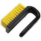 BRUSH, DISSIPATIVE, CURVED HANDLE, NYLON, 3INX1.5IN