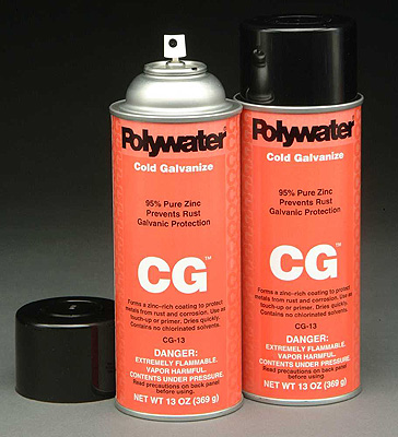16-Oz Type CG™ Cold Galvanizing Spray for Weld Coating, Metal Protection and Repair Aerosol (net wt 13 oz)  - P/N CG-13