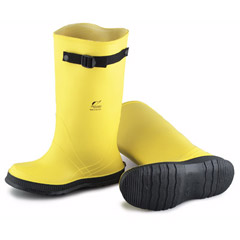 "Men's 17"" Yellow Overboot w/ Strap"