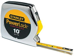 "10' x 1/4"" Powerlock Pocket Tape With Diameter Scale"