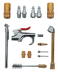 "17 Piece Blow Gun Accessory Kit 1/4"" NPT"