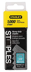 "1,000 Units 3/8"" Flat Narrow Crown Staples"