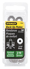 "30-Pack 3/16"" Aluminum Rivet Back Up Plates"