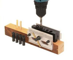 Self Centering Doweling Jig  (2 tapped and 2 permanent holes)