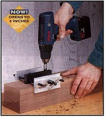 "6"" Opening Self-Centering Doweling Jig (4 tapped holes)"