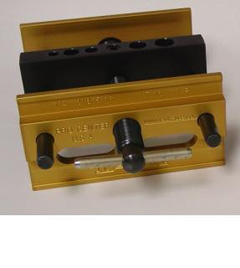 "Gold Series- 6"" Full Opening Self Centering Doweling Jig  (5 Permanent Holes) Open to Close 3 times faster than any doweling jig on the market"