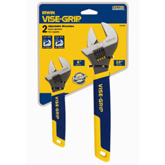 "2 Pc. Adjustable Wrench Set - 6"" & 10"""