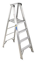 10' Aluminum Platform Stepladder Type IAA 375 Lbs Duty Rating