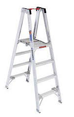 10' Aluminum Platform Twin Stepladder Type IA 300 Lbs Duty Rating